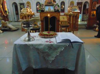 23 февраля совершена Литургия Преждеосвященных Даров с чином освящения колива