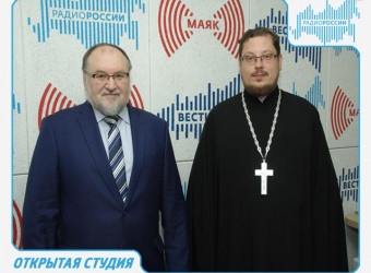 Настоятель храма принял участие в передаче, посвященной православной выставке-ярмарке «Мир и клир»