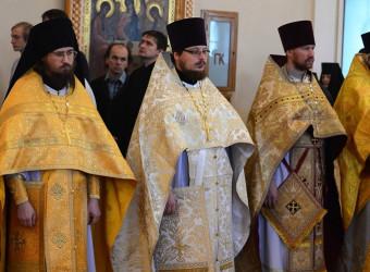 Настоятель храма принял участие в торжественном богослужении по случаю Престольного праздника Калужской духовной семинарии