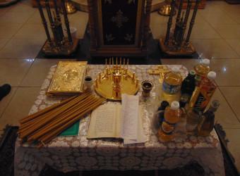 В храме совершено Таинство Соборования