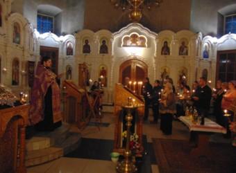 8 марта в храме Космы и Дамиана было совершено первое в Великий пост Таинство Соборования
