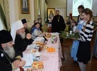 Настоятель храма святых бессребреников Космы и Дамиана в г. Калуге принял участие в Рождественской встрече с молодежью