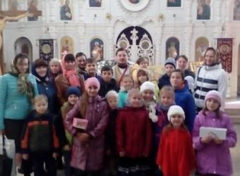 25 сентября начала работу воскресная школа для детей при храме святых бессребреников Космы и Дамиана в г. Калуге