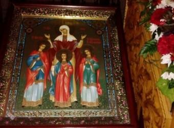 30 сентября, в день памяти святых мучениц Веры, Надежды, Любови и матери их Софии в храме святых бессребреников Космы и Дамиана в              г. Калуге прошли праздничные богослужения
