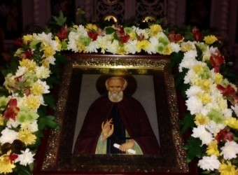 В день памяти прп. Сергия, игумена Радонежского, настоятель храма святых бессребреников Космы и Дамиана отметил свое тезоименитство