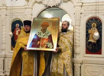 В храме появилась новая святыня – икона святителя Спиридона Тримифунтского