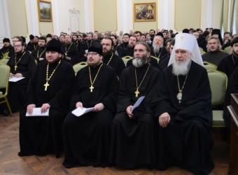 Настоятель храма выступил на ежегодном собрании Калужской епархии