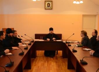 Настоятель храма возглавил заседание Методического совета по подготовке к процедуре государственной аккредитации Калужской духовной семинарии