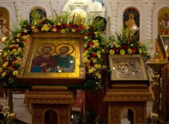 Храм в честь святых бессребреников Космы и Дамиана в г. Калуге отметил свое 225-летие