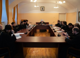 Протоиерей Сергий Третьяков выступил на очередном заседании Ученого совета Калужской духовной семинарии