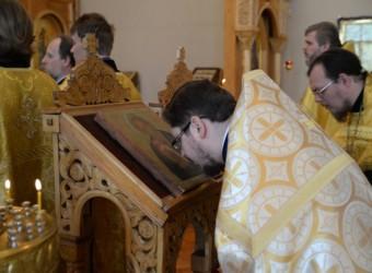 Протоиерей Сергий Третьяков сослужил митрополиту Клименту в престольный праздник Калужской духовной семинарии