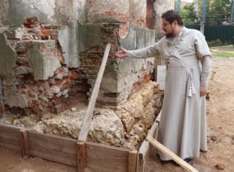 В храме продолжаются ремонтно-реставрационные работы