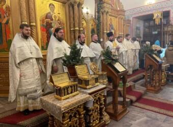 Настоятель храма принял участие в богослужении по случаю Престольного праздника Предтеченского храма г. Калуги