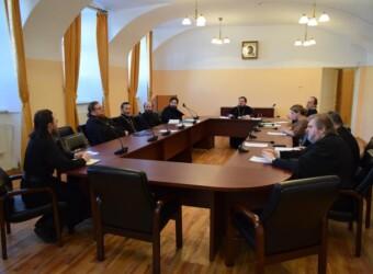 Настоятель храма возглавил очередное заседание Ученого совета Калужской духовной семинарии
