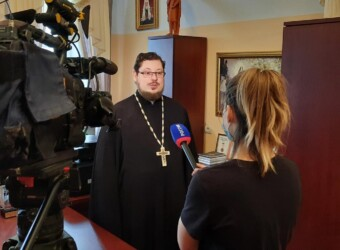 Настоятель храма дал интервью ГТРК «РОССИЯ-Калуга» об открытии магистерской программы в Калужской духовной семинарии