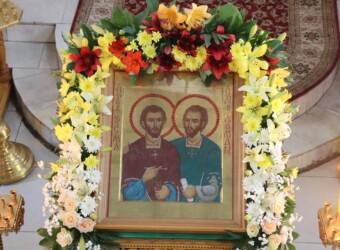 Храм в честь святых бессребреников Космы и Дамиана в г. Калуге отметил Престольный праздник