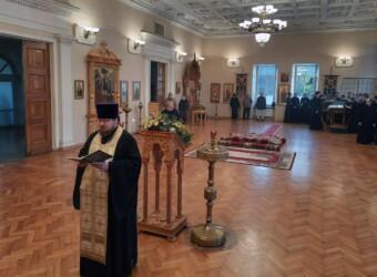 Настоятель храма принял участие в служении Всенощного бдения Престольного праздника Калужской духовной семинарии